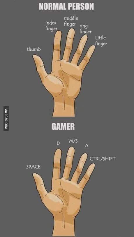 Gaming picdump - handen van een mens en gamer
