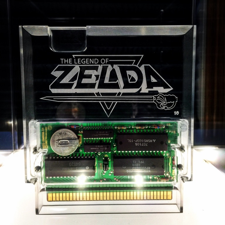 Een doorzichtige The Legend of Zelda cartridge