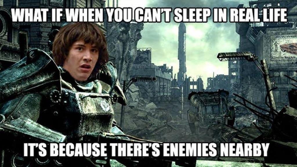 Wat als je in het echt niet kan slapen, omdat er vijanden in de buurt zijn
