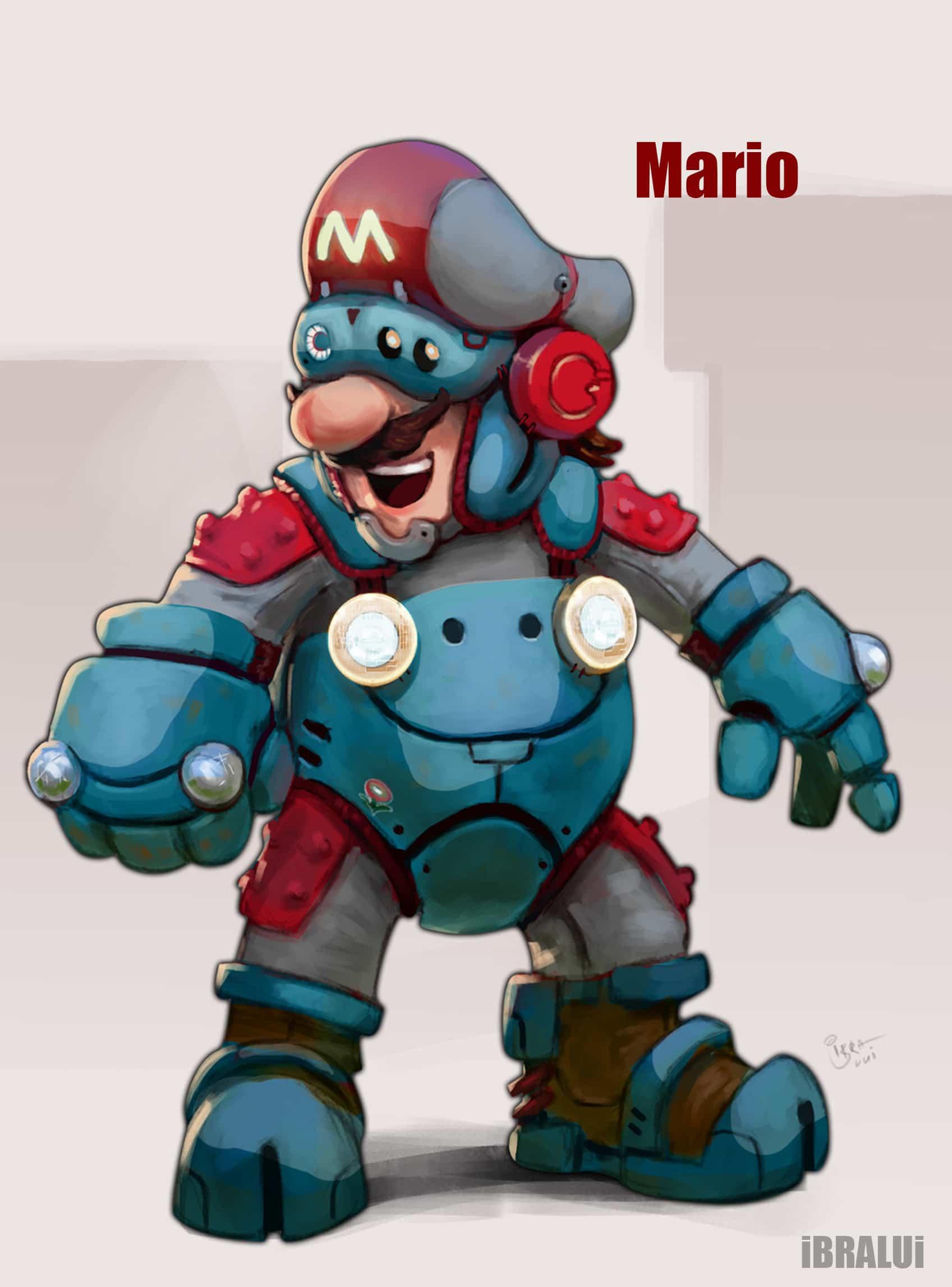 cyborg Mario - Super mario world